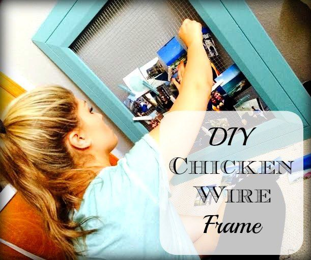 DIY Chicken Wire & Clothes Pin Frame and Photo Display