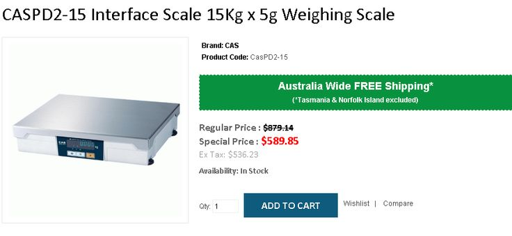 Buy CASPD2-15 Interface Scale 15Kg x 5g Weighing Scale at $ 589.85 Instead of $ 879.18. OnlyPOS provide FREE Shipping all over Australia..! http://www.onlypos.com.au/interface-scale-cas-pd2-15