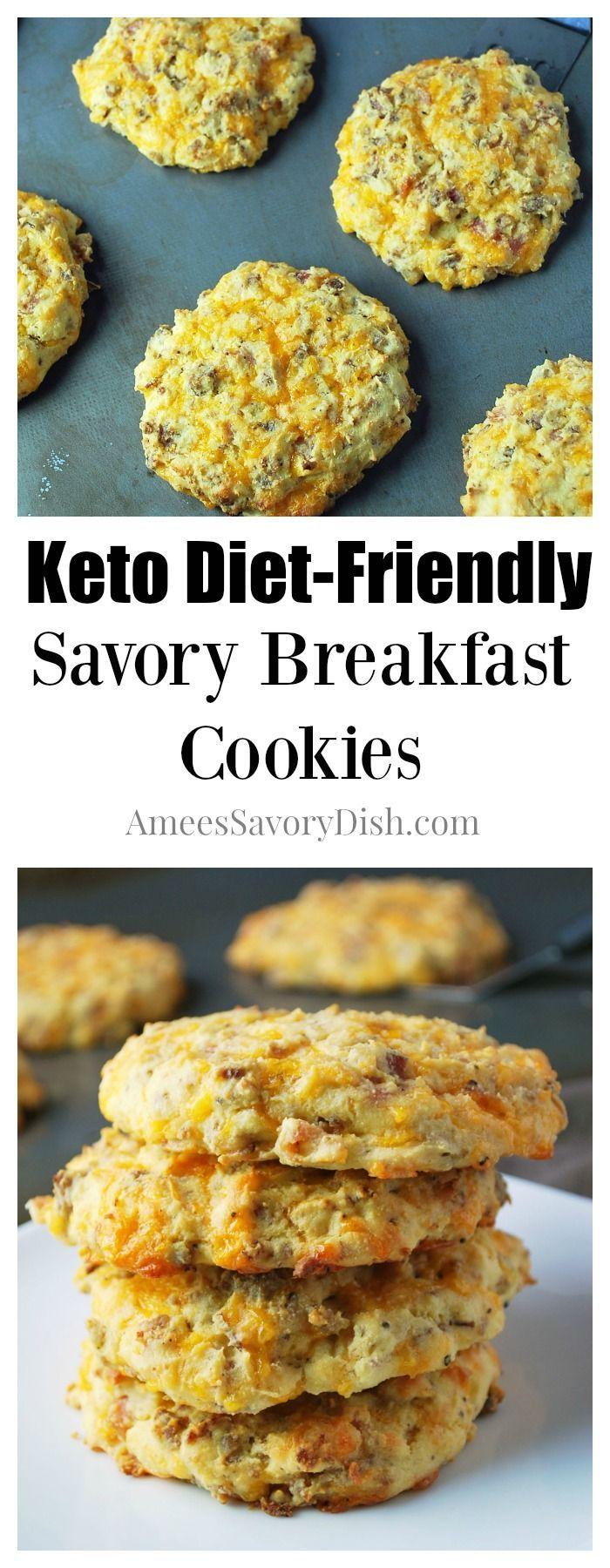 Keto Diet-Friendly Savory Breakfast Cookies