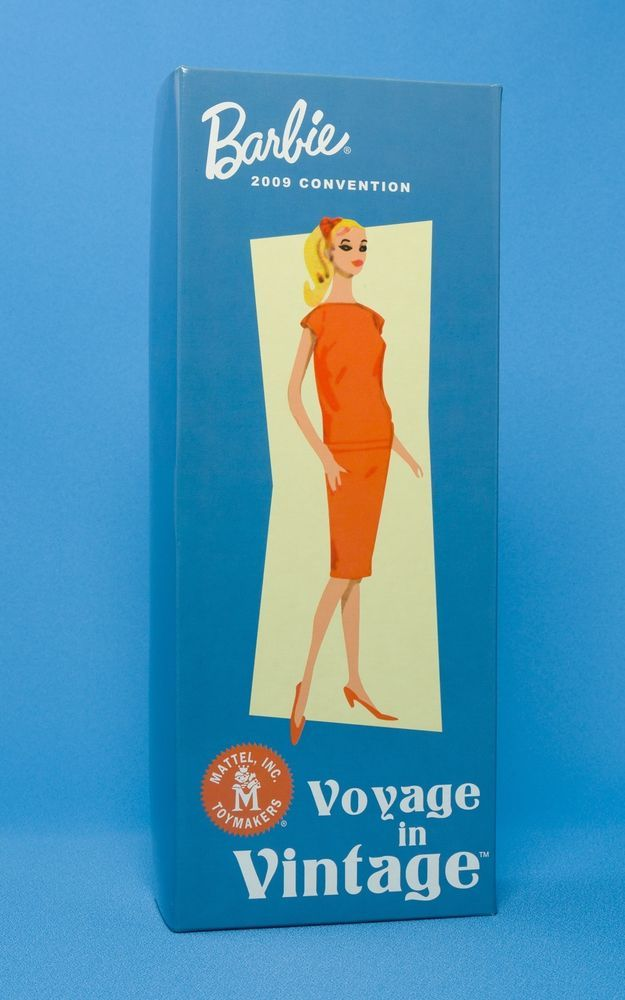 Voyage In Vintage 2009 Barbie Convention Signed By Bill Greening Gold Label NRFB #Mattel