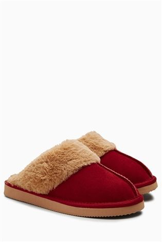 Buy Red Suede Mules from the Next UK online shop