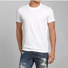 men's short sleeve plain white round neck t-shirt oem supply services  best buy follow this link http://shopingayo.space