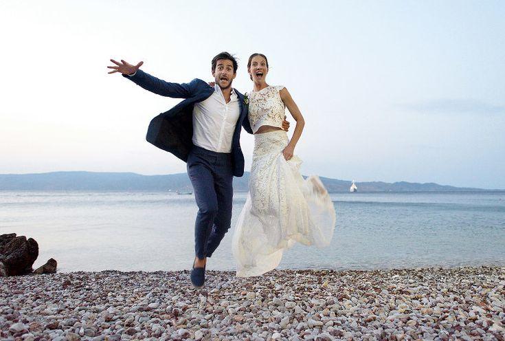 Lucia & Guillaume | Destination Wedding in Greece | Hydra island . #couplesphotography #wedding #destiantionwedding #Greece #weddingphotography #bride #groom #funny