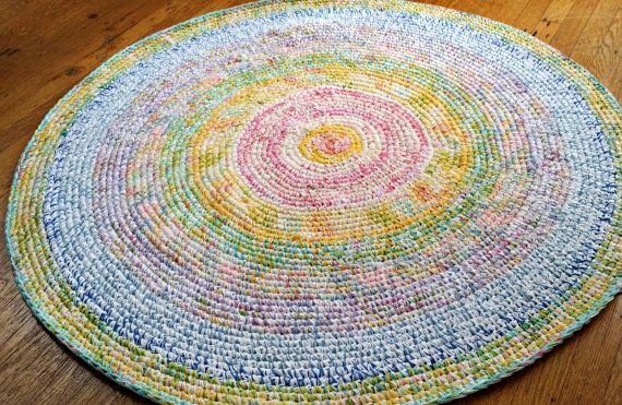 Ready to Ship Nursery Rug/Crochet Rugs/Crochet Rug/Rugs/Rug/Area Rugs/Area Rug/Cottage Rugs/Round Rugs/Round Rug/Kids Decor/Baby Room Decor