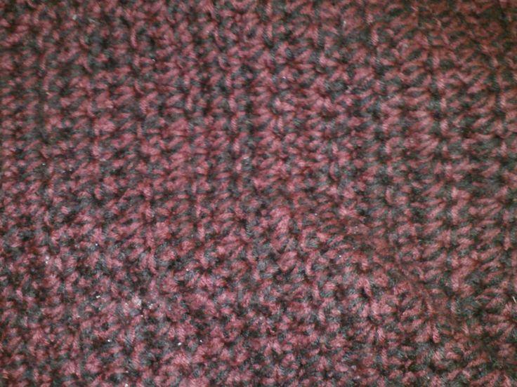huge blanket I made my pattern