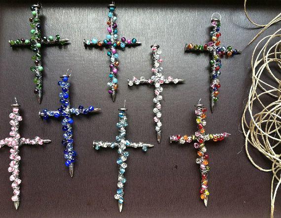 Handmade Beaded Cross by nataliereyna on Etsy, $4.00