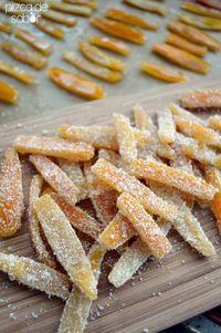 Cáscaras de naranja cristalizadas (azucaradas and con chocolate y sal de mar) | http://www.pizcadesabor.com/2014/05/07/cascaras-de-naranja-cristalizadas-azucaradas-con-chocolate-y-sal-de-mar/
