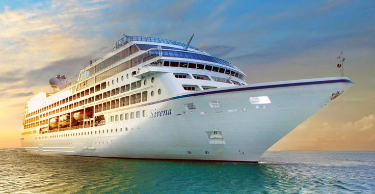 Sirena. Ιδιοκτησία & Διαχείριση: Oceania Cruises. 1999 ~ 2002 R Four. 2002 ~ 2009 Tahitian Princess. 2009 ~ 2016 Ocean Pincess. 2016 ~ present, today's name. Σε υπηρεσία από το 1999. 30.277GT ~ 181 μ.μ. ~ 25,46 μ.πλάτος ~ 11 κατ/τα ~ 18knots ~ 826 επ. ~ 373 α.πλ.