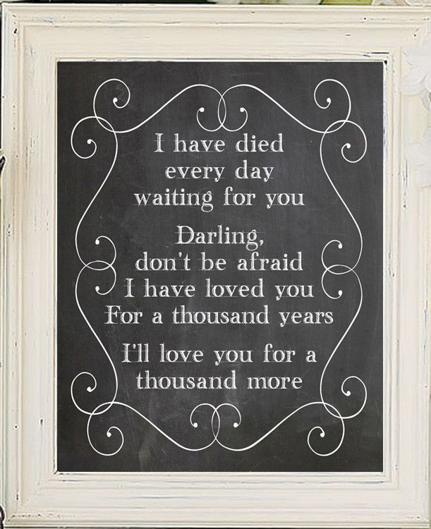 Now available in our store. Check it out here http://j-s-graphics.myshopify.com/products/a-thousand-years-8x10-faux-chalkboard-background-print-christina-perri-twilight-song-lyrics?utm_campaign=social_autopilot&utm_source=pin&utm_medium=pin