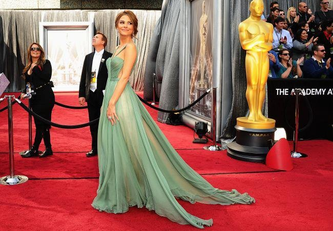 Maria Menounos is wearing Brigitte gown by MLH on the red carpet of the Academy Awards