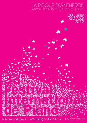 Festival de piano. Du 20 juillet au 20 août 2013 à La Roque d'Anthéron.