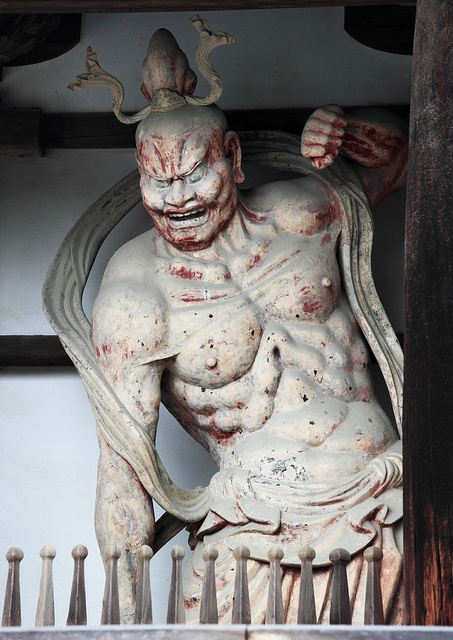 Deva King, Guardian God at Horyu-ji, Nara, Japan: photo by TANAKA Juuyoh