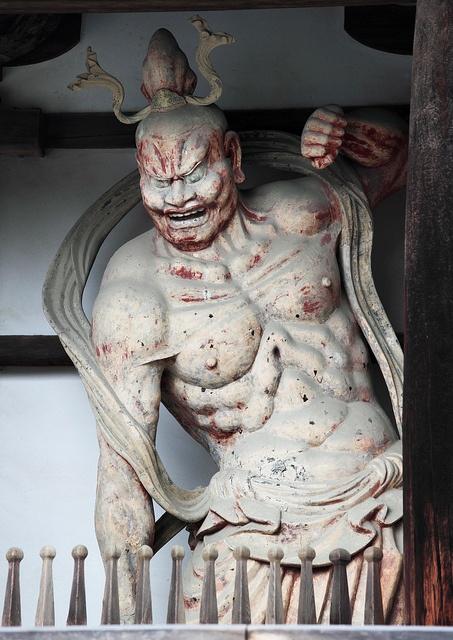 Deva King, Guardian God at Horyu-ji, Nara, Japan: photo by TANAKA Juuyoh