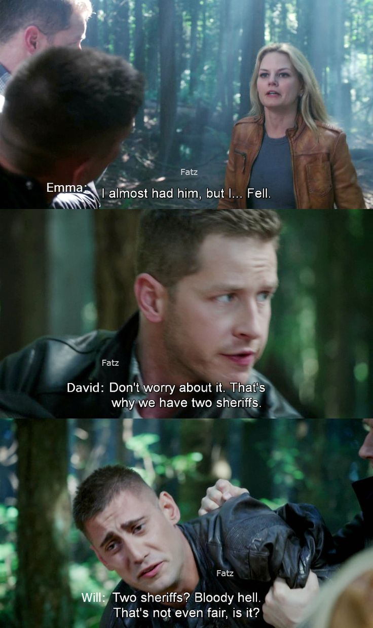 """""""Two sheriff's? Bloody hell. That's not even fair, is it?"""" Will, David and Emma - 4 * 3 """"Rocky Road"""""""