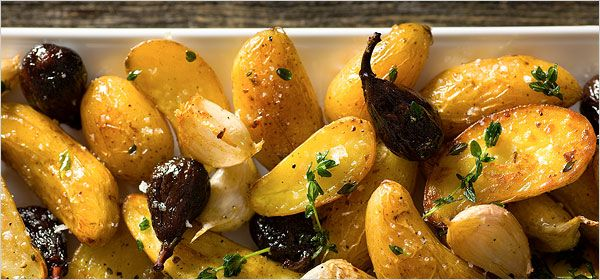 Roasted Fingerling Potatoes With Dried Figs and Thyme by Kim Severson