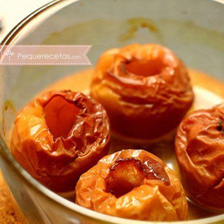 Postres en microondas: manzanas asadas