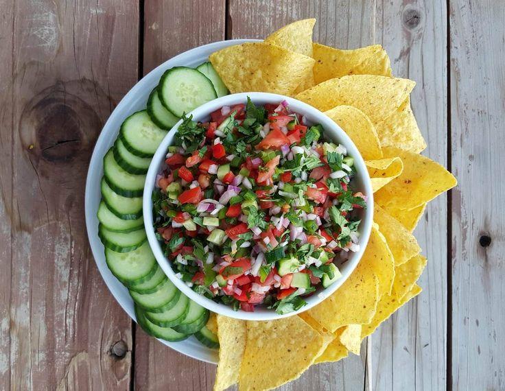 Homemade Pic De Gallo Recipe http://cleanfoodcrush.com/fresh-homemade-pico/
