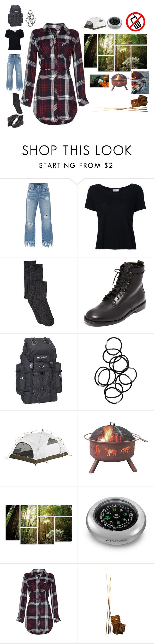 """Tartan and camping"" by rylock ❤ liked on Polyvore featuring 3x1, Frame, Jenni Kayne, Everest, Monki, VERONA and Landmann"