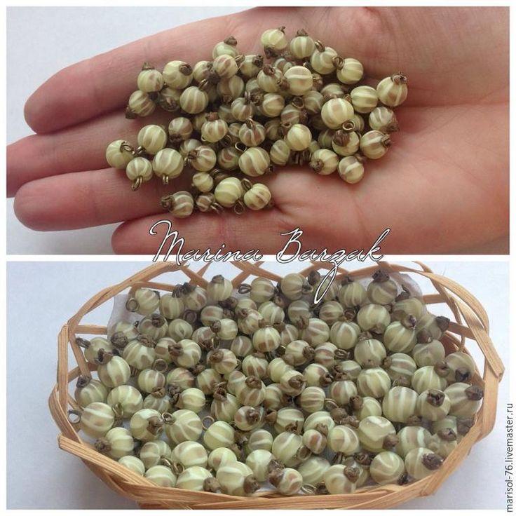 Лепим ягоды белой смородины из полимерной глины - Ярмарка Мастеров - ручная работа, handmade