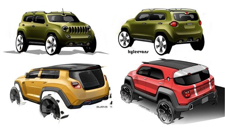 Jeep Renegade development sketches