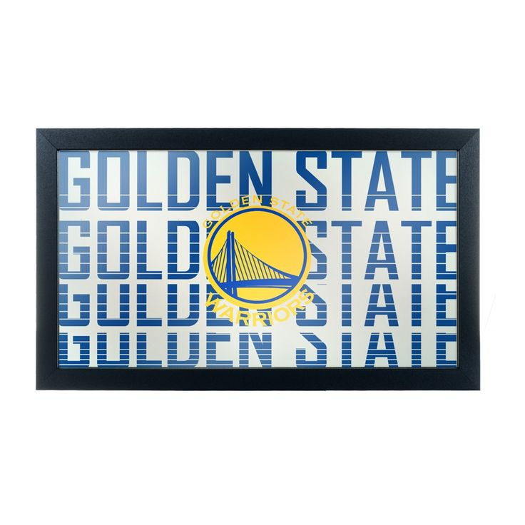NBA Golden State Warriors City Framed Logo Mirror