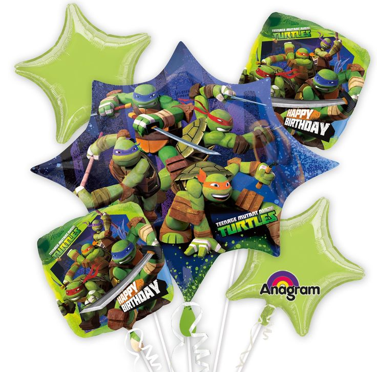 Nickelodeon Teenage Mutant Ninja Turtles Balloon Bouquet $11.99 from BirthdayExpress.com