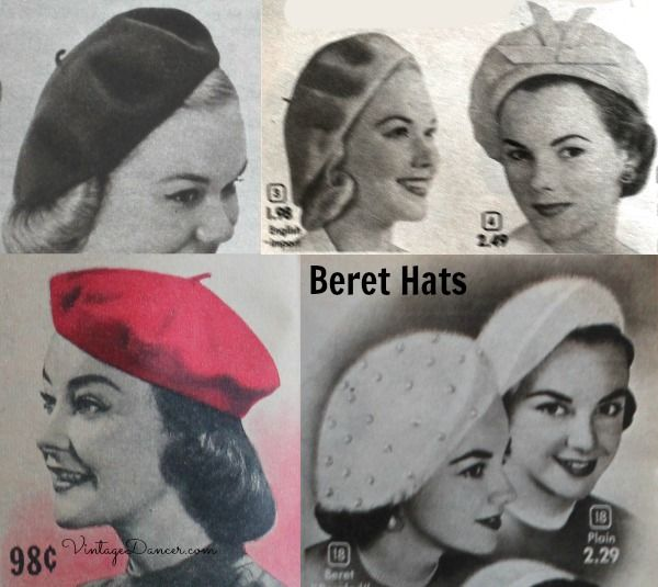 1950s Womens Hats By Style Beret Hats For Women Hats Vintage
