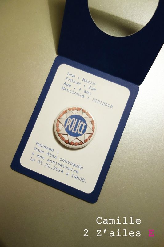 Police badge invitation                                                                                                                                                                                 Plus