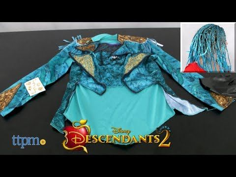Disney Descendants 2 Uma Dress Up Set & Character Wig from Just Play - YouTube