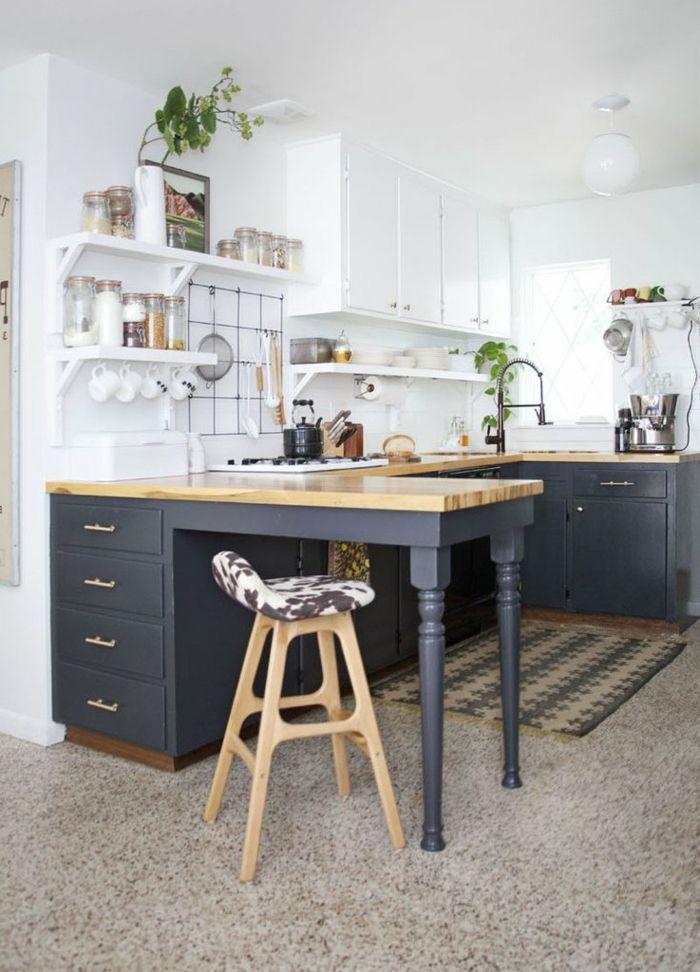 1001 id es pour l 39 am nagement de la cuisine petit espace id es nouveau logement wooden - Amenagement cuisine petit espace ...