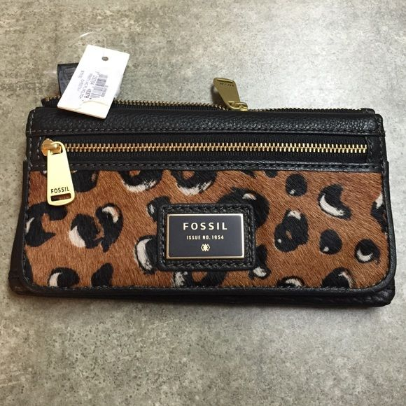 Fossil wallet Cheetah Fossil Wallet new never used Fossil Bags Wallets