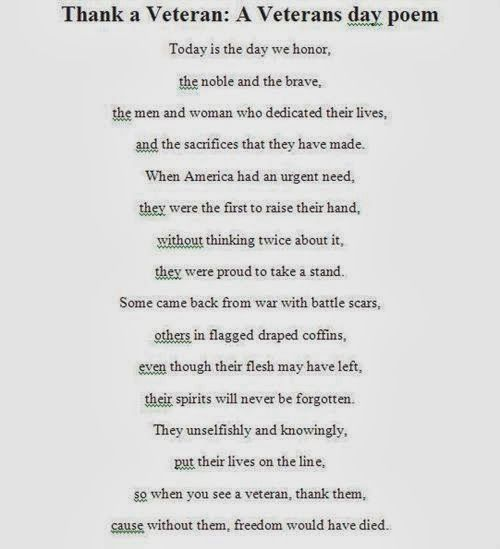 Meaningful Veterans Day Poems For Young Children - Free Quotes, Poems, Pictures ...