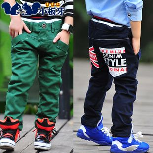 2013 autumn korean version of the new autumn baby boy child childrens clothing flag thick long pants casual pants 6811 only $12.76USD a Piece