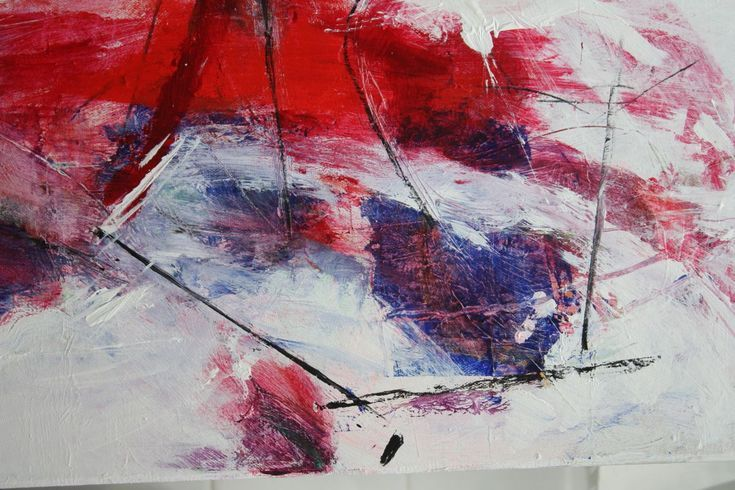 Buy STRAWBERRY SKY  abstract painting red , white, Acrylic painting by Chrissy Guest - Abstract Art on Artfinder. Discover thousands of other original paintings, prints, sculptures and photography from independent artists.
