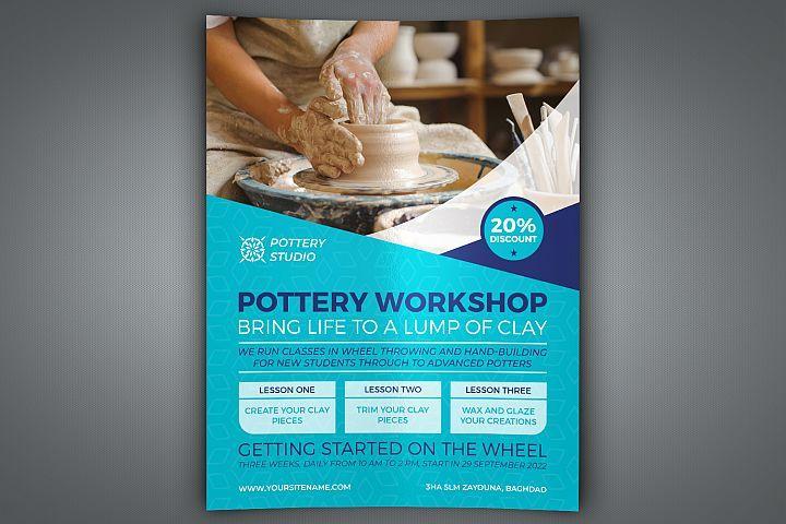 Pottery Workshop Flyer Template Pottery Workshop Flyer Flyer