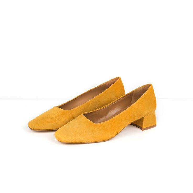 Flattered | Elina - Tumeric / Yellow Suede Pump