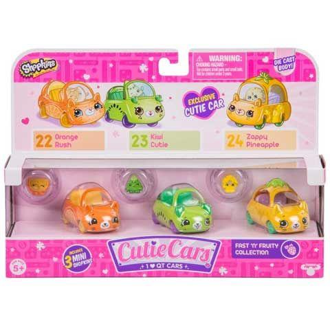 Shopkins: Cuki kocsi Fast'n'Fruity szett 3db-os