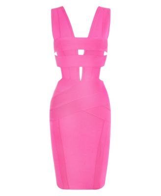 Fashion Means: Luxury, adulteration, Elegance, Style, Class and Sensuality. Shop Strappy Krystal – Pink Bandage Dress at AUD 129, fit for all sizes.