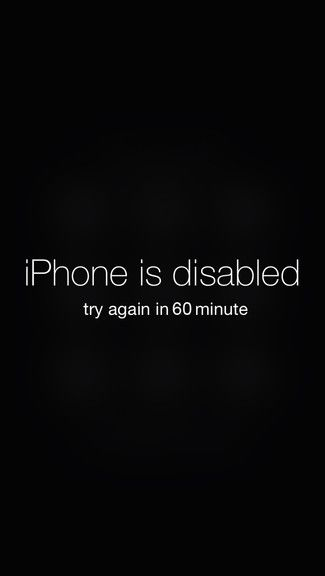 Disabled iPhone iPhone 5C / 5S wallpaper