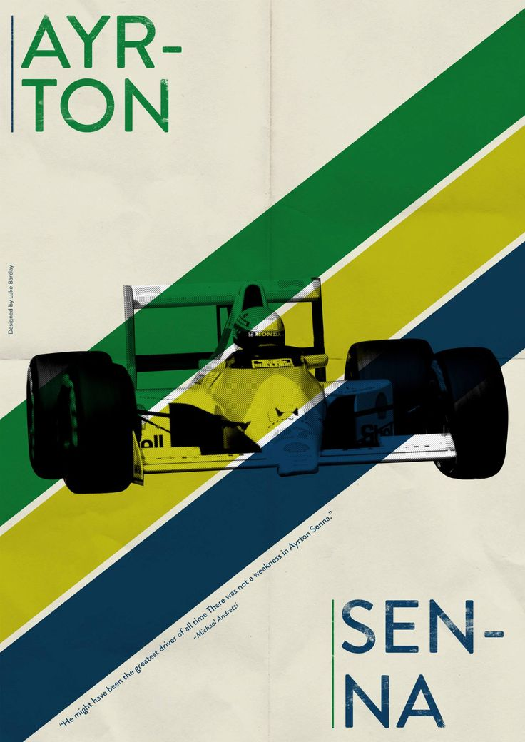 Ayrton Senna, by Luke Barclay