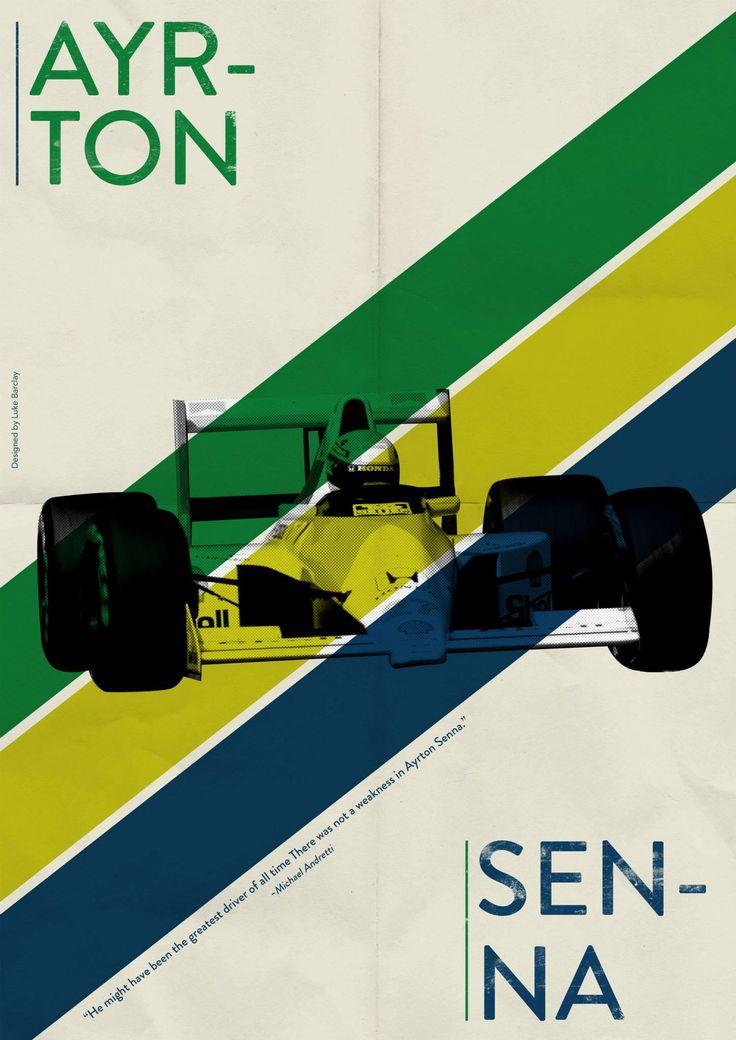 Ayrton Senna, by Luke Barclay