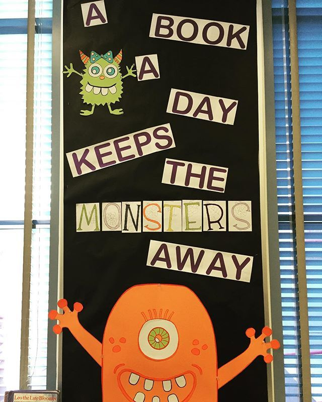Getting the library ready for the month of October. I'm dying over the cuteness…