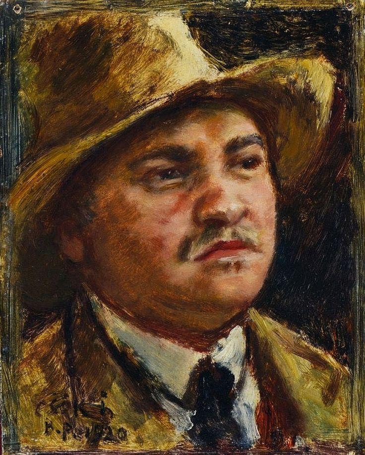 Csók István (Sáregres, 1865-Budapest, 1961.): Self - by POLGAR Aukciósház Kft