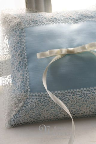 Satin and Lace Pillow
