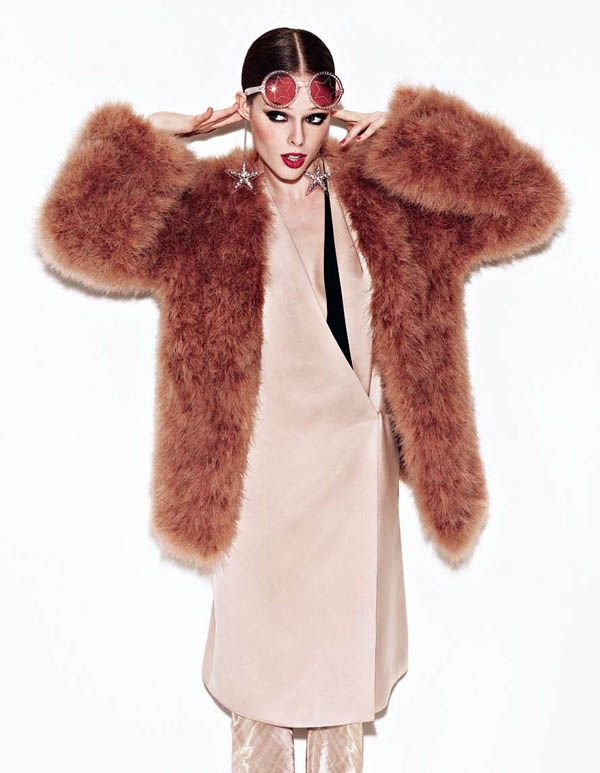 Coco Rocha by Matthias Vriens McGrath for Elle UK August 2011: Stars Baby, Discos Queen