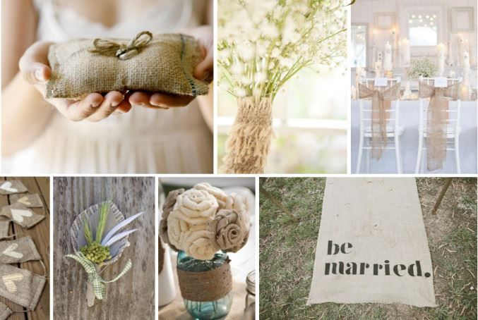 burlap trouwdag