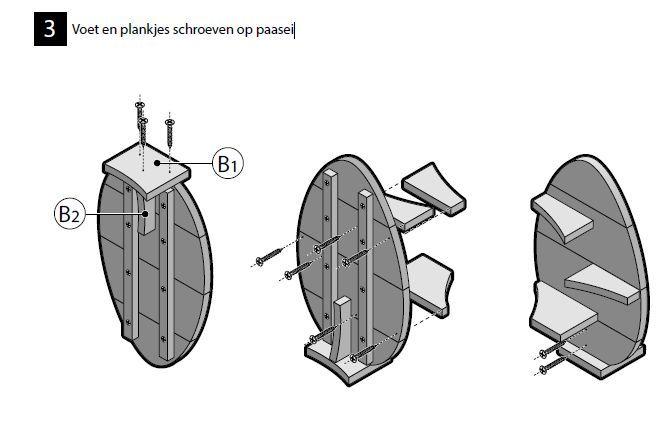 Stappenplan #bouwtekening voor een wandplank van steigerhout.