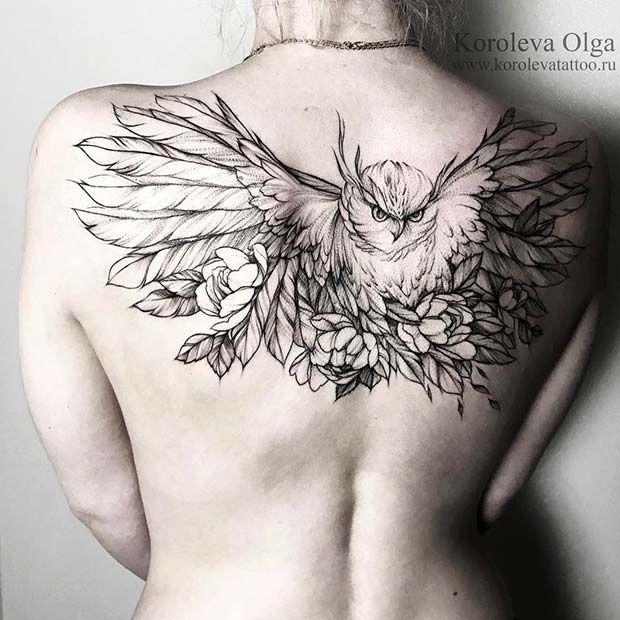 Bird Tattoo For Women Back