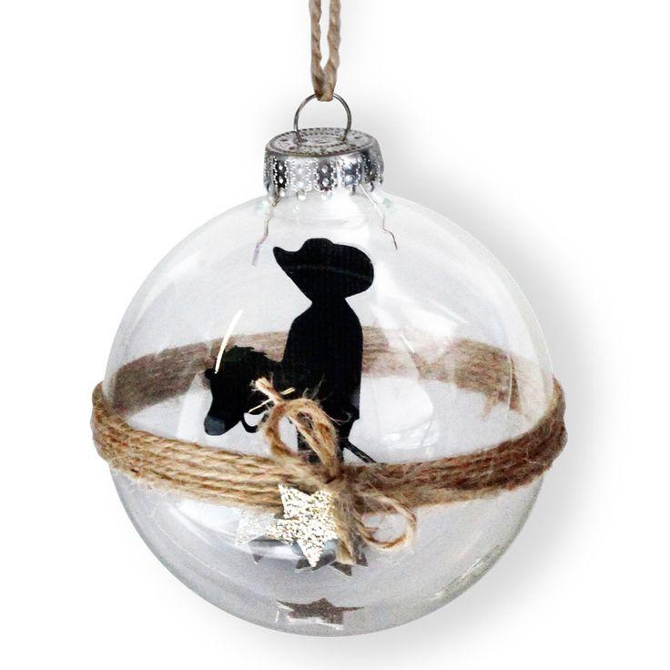 Die-cut Cowboy Christmas Ornament