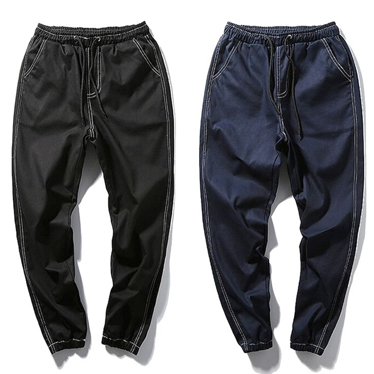 Japanese Style Drawstring Black Jeans Jogger Men Hip Hop Trousers Denim Harem Pants Men Plus Size 5XL